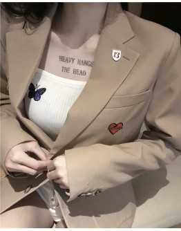 FREE SHIPPING LADIES HEART LONG-LINE COAT