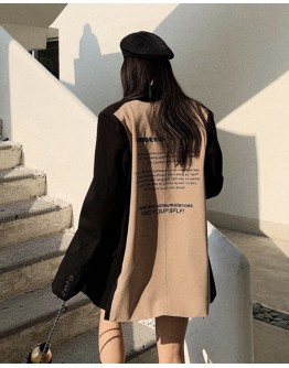 FREE SHIPPING KHAKI LONG-LINE COAT