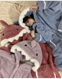 FREE SHIPPING SHARK HOODIE PAJAMAS TOPS+ PAJAMAS PANTS