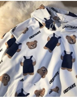 FREE SHIPPING LADIES OBS BEAR HOODIE THIN SWEATER