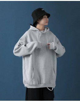 FREE SHIPPING UNISEX LOOSE BASIC HOODIE THIN SWEATER