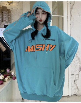 FREE SHIPPING LADIES MISHY HOODIE OVER-SIZE THIN SWEATER