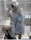 FREE SHIPPING LADIES GLITTERY KNITTED LOOSE TOPS