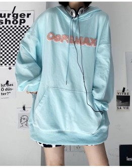 FREE SHIPPING LADIES OOPSMAX LOOSE HOODIE SWEATER