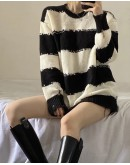 FREE SHIPPING LADIES ASYMMETRIC KNITTED SWEATER