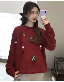 FREE SHIPPING LADIES CHRISTMAS THICK KNITTED SWEATER