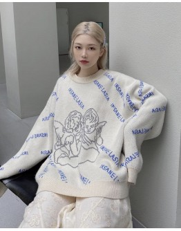 FREE SHIPPING LADIES ANGEL KNITTED SWEATER