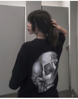 LADIES SKULL PRINT TOPS