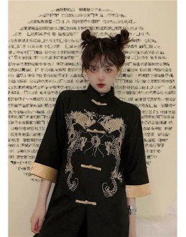 【GS】UNISEX EMBROIDER CHINESE TUNIC PATTERNED TOPS