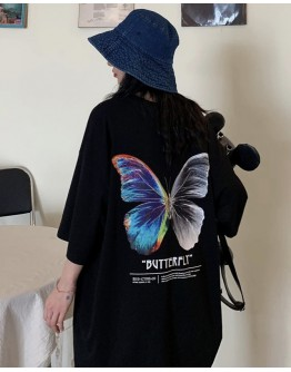 LADIES BUTTERFLY LONG-LINE TOPS