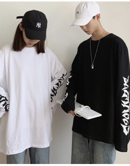 UNISEX LONG-SLEEVED PLUS TOPS