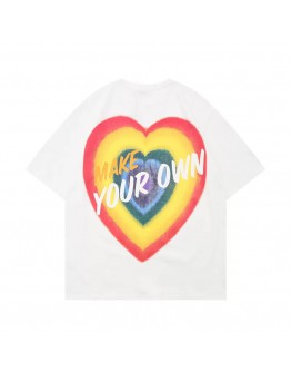 FREE SHIPPING RAINBOW HEART MAKE YOUR OWN TOPS