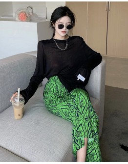 FREE SHIPPING LONG-SLEEVED TOPS / FITTED LONG-SKIRT