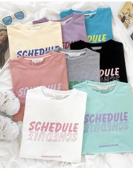 FREE SHIPPING LADIES SCHEDULE PRINT TOPS