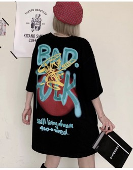 FREE SHIPPING LADIES BAD FUCK PRINT TOPS