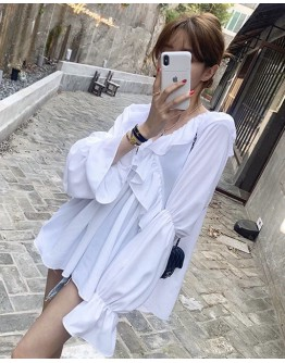 FREE SHIPPING LADIES V-NECK LOOSE BLOUSE