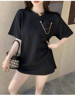 FREE SHIPPING LADIES CHAIN PATTERN LOOSE TOPS