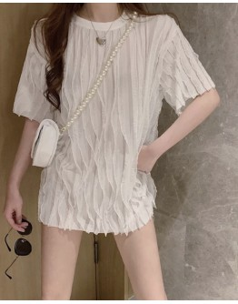 FREE SHIPPING LADIES LAYRED PATTERN LONG-LINE TOPS