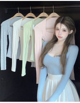 FREE SHIPPING LONG-SLEEVED FITTED TOPS
