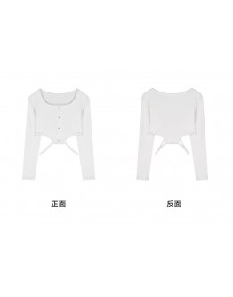 FREE SHIPPING LADIES KNITTED CUT-OUT SHORT TOPS