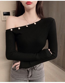 FREE SHIPPING OPEN-SHOULDER FITTED TOPS