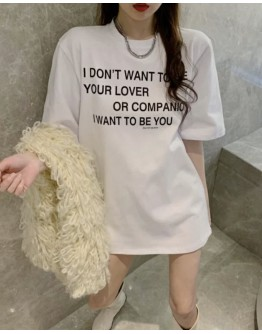 FREE SHIPPING LADIES DONT WANT TO BE YOUR LOVER PRINT TOPS