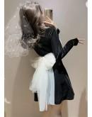 【GS】FREE SHIPPING LADIES RIBBON PATTERNED DRESS