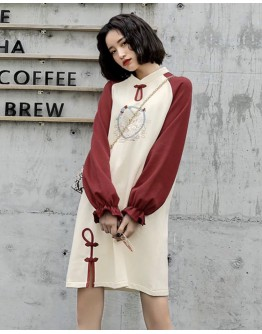 LADIES EMBROIDER SWEATER DRESS