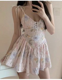 FREE SHIPPING FLORA CAMISOLE FITTED DRESS