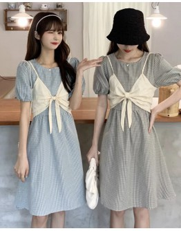 FREE SHIPPING CAMISOLE VEST + CHECKED DRESS