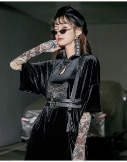 LADIES VELVET OVER-SIZE DRESS