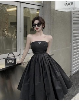 FREE SHIPPING OFF-THE-SHOULDER A-LINE DRESS