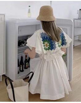 LADIES FLORA KNITTED VEST / A-LINE SHORT DRESS