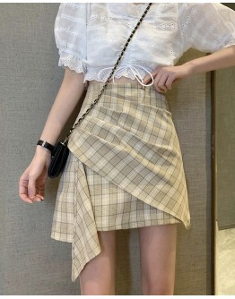 LADIES FITTED CHECKERED SKIRT