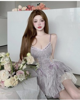 FREE SHIPPING LADIES LACE CAMISOLE LAYRED DRESS