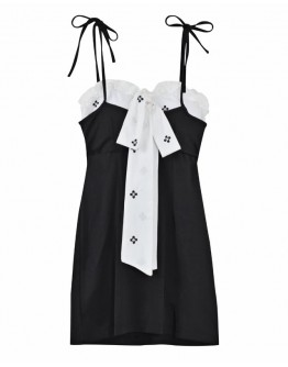 FREE SHIPPING CAMISOLE RIBBON FITTED DRESS
