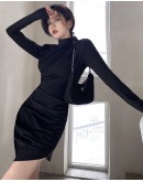 FREE SHIPPING LADIES FITTED LAYRED PLUS DRESS