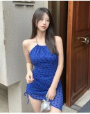 FREE SHIPPING LADIES CHAIN FITTED PLUS DRESS