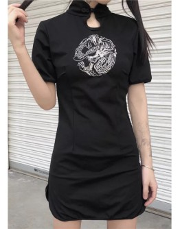 【GS】LADIES CHINESE TUNIC EMBROIDER DRESS